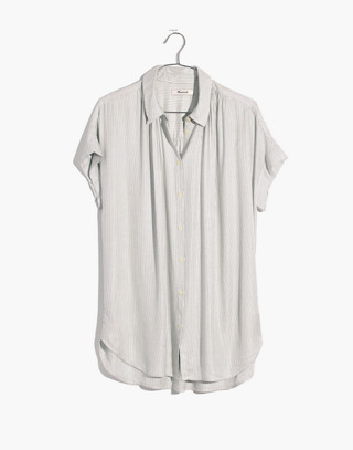 Central Shirt in Luis Stripe in white wash image 4
