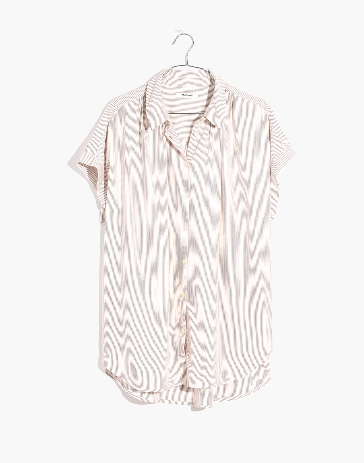 Central Shirt in Luis Stripe in dark cinnabar image 1