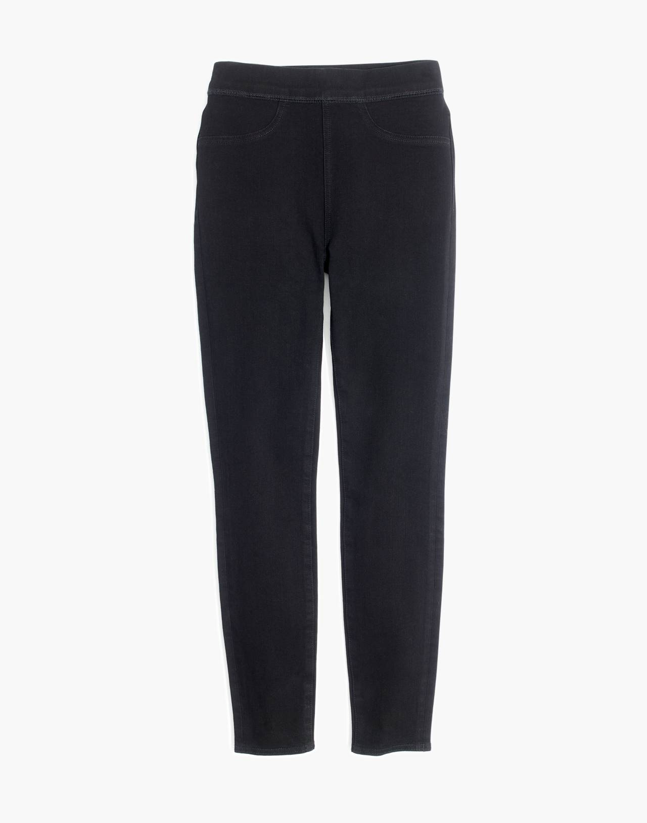 Pull-On Jeans in Black Frost in black frost image 4