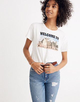 Welcome to the Badlands Whisper Cotton Crewneck Tee
