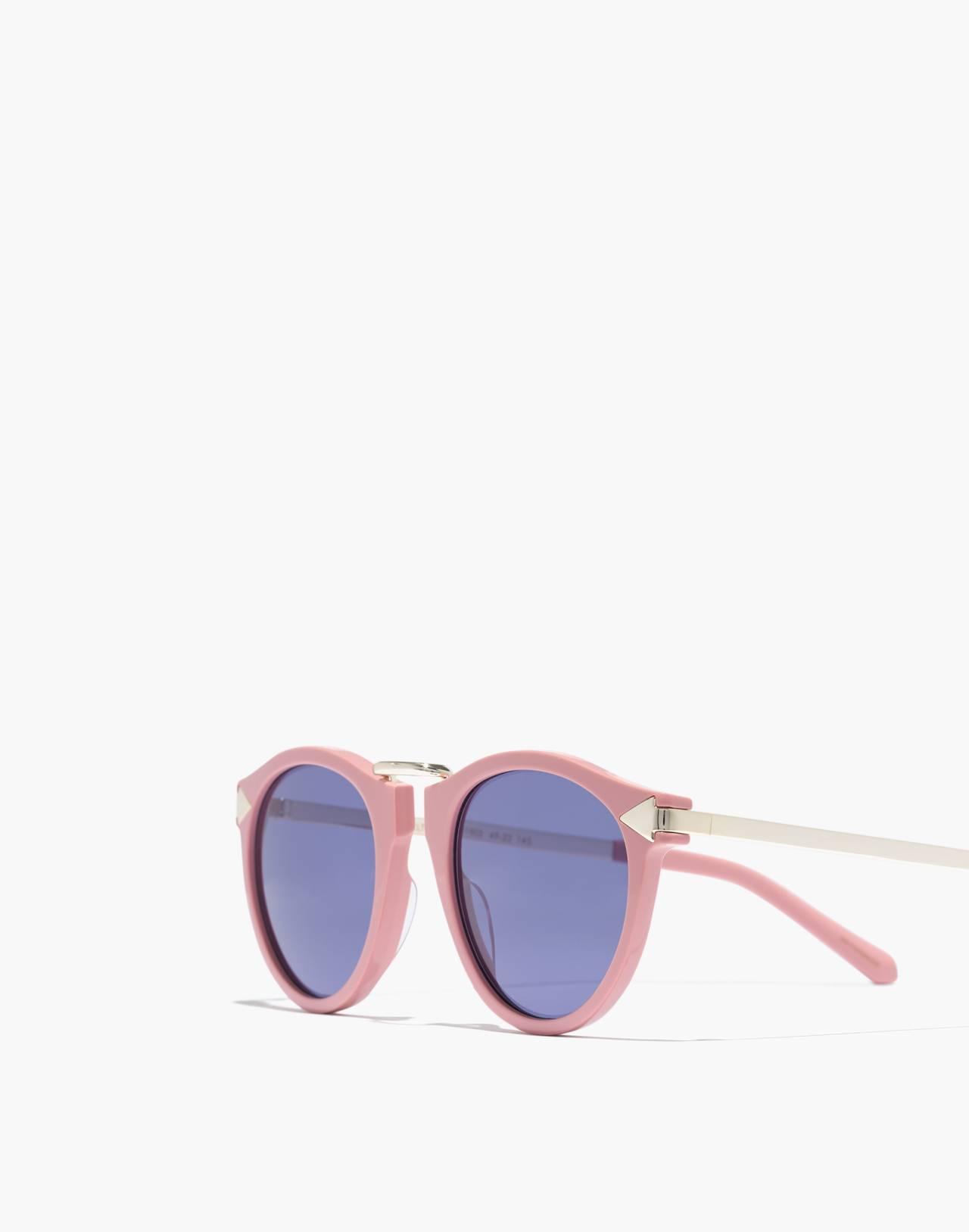 Madewell x Karen Walker® Helter Skelter Sunglasses in shiny pink image 2