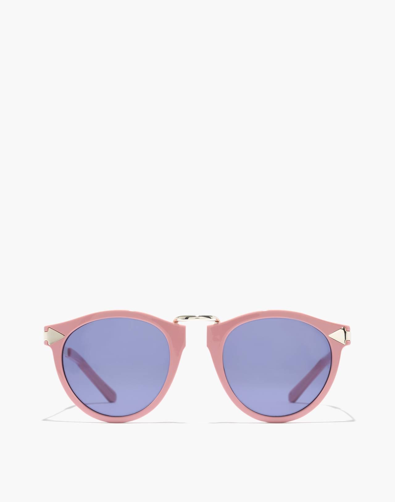 Madewell x Karen Walker® Helter Skelter Sunglasses in shiny pink image 1