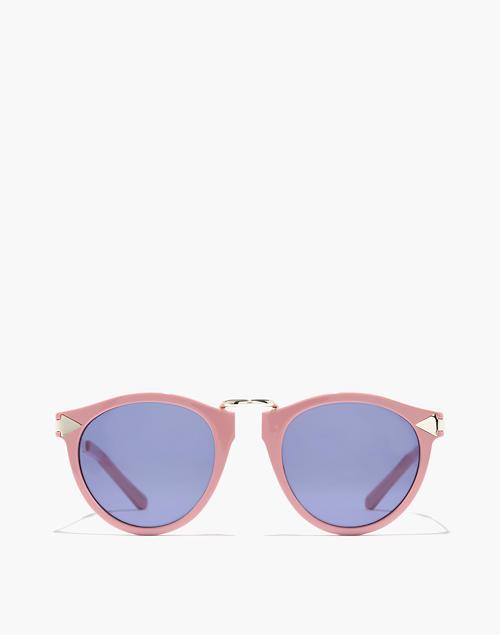 fc5ede4c2ff Madewell x Karen Walker reg  Helter Skelter Sunglasses in shiny pink ...