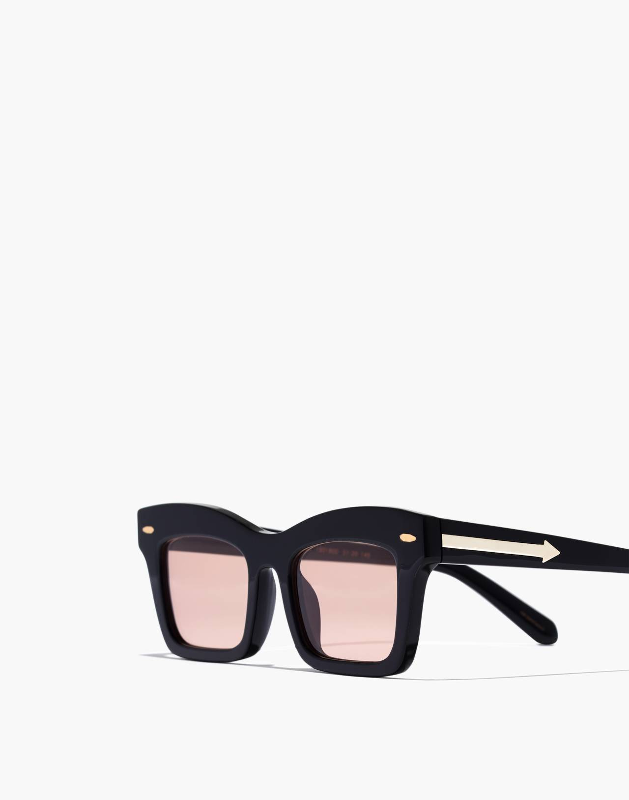 Madewell x Karen Walker® Banks Sunglasses in black image 2
