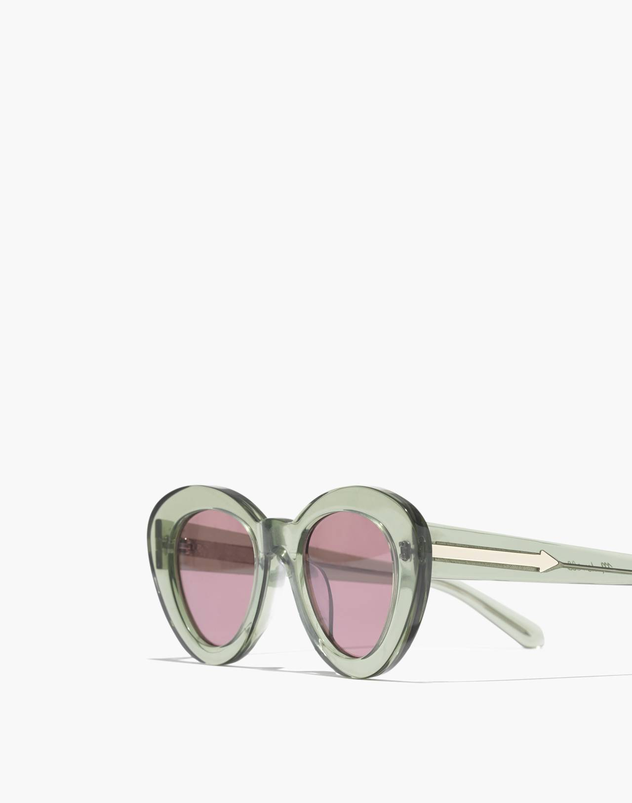 Madewell x Karen Walker® Argentina Sunglasses in crystal khaki image 2