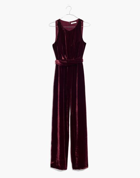 Velvet Twist-Front Jumpsuit in pinot noir image 4