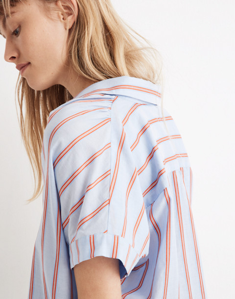 Central Shirt in Atwater Stripe in dark sea image 2
