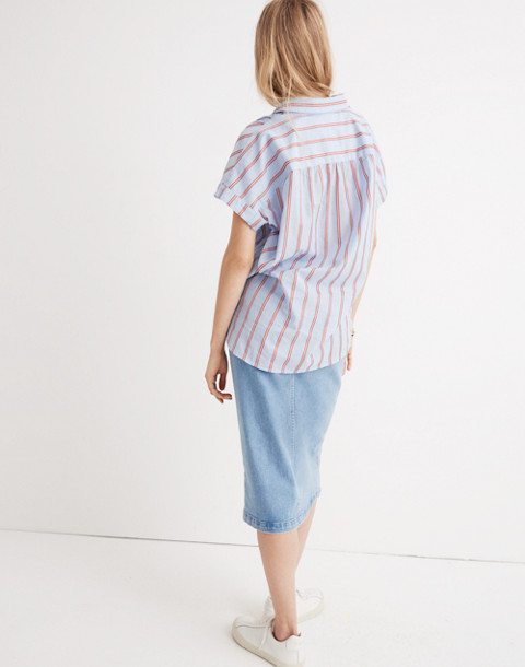 Central Shirt in Atwater Stripe in dark sea image 3