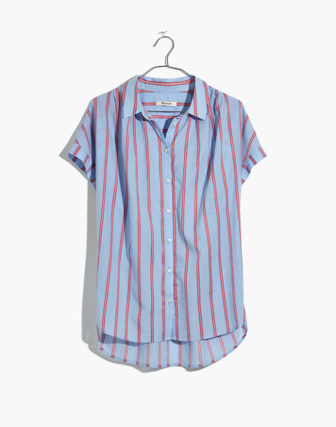 Central Shirt in Atwater Stripe in dark sea image 4