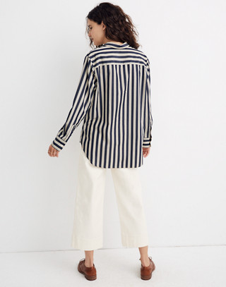 Tunic Shirt in Hampden Stripe in blue night image 3