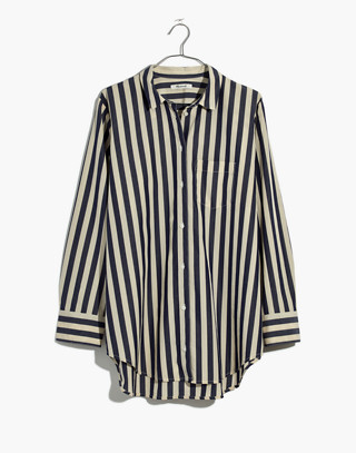Tunic Shirt in Hampden Stripe in blue night image 4
