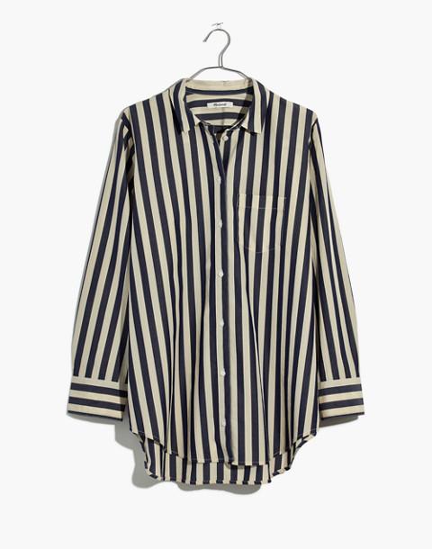 Tunic Shirt in Hampden Stripe in blue night image 4