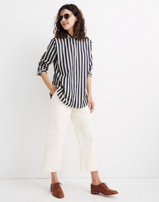 Tunic Shirt in Hampden Stripe in blue night image 1