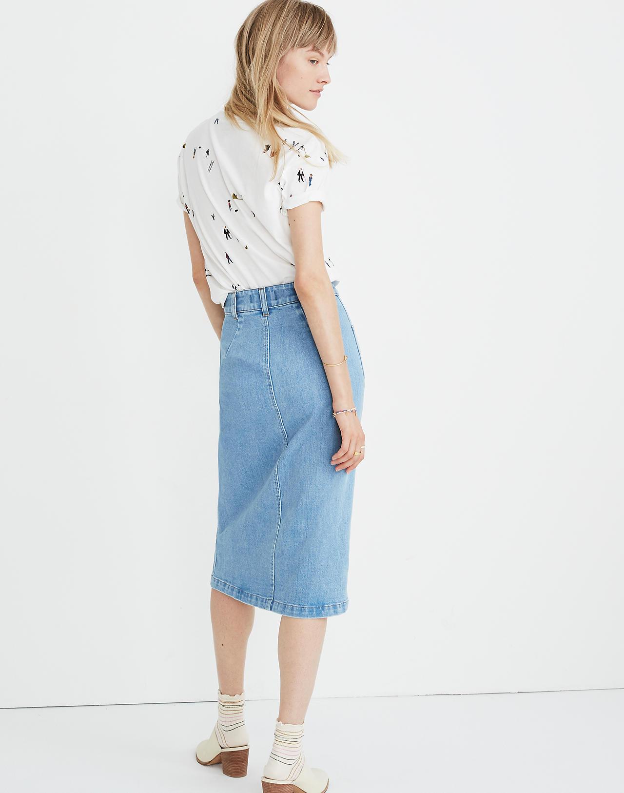 81da21240 Madewell Denim Zip Front Midi Skirt – DACC