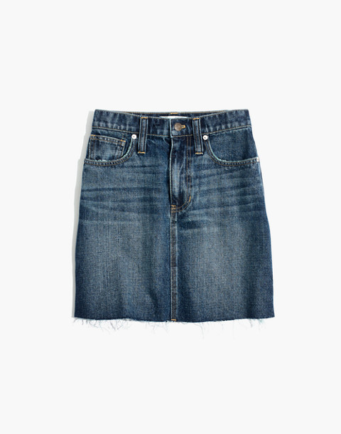 Rigid Denim Straight Mini Skirt: Reworked Edition in maxdale wash image 4