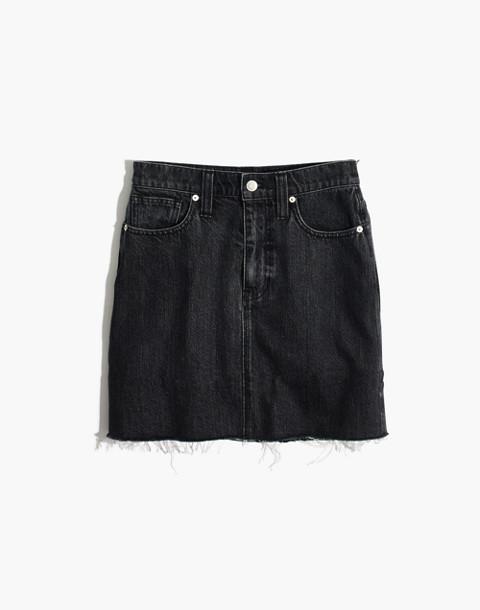 Rigid Denim Straight Mini Skirt in Hideaway Wash in hideaway wash image 4