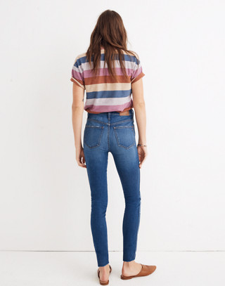"""Petite 10"""" High-Rise Skinny Jeans in Hanna Wash in hanna wash image 3"""