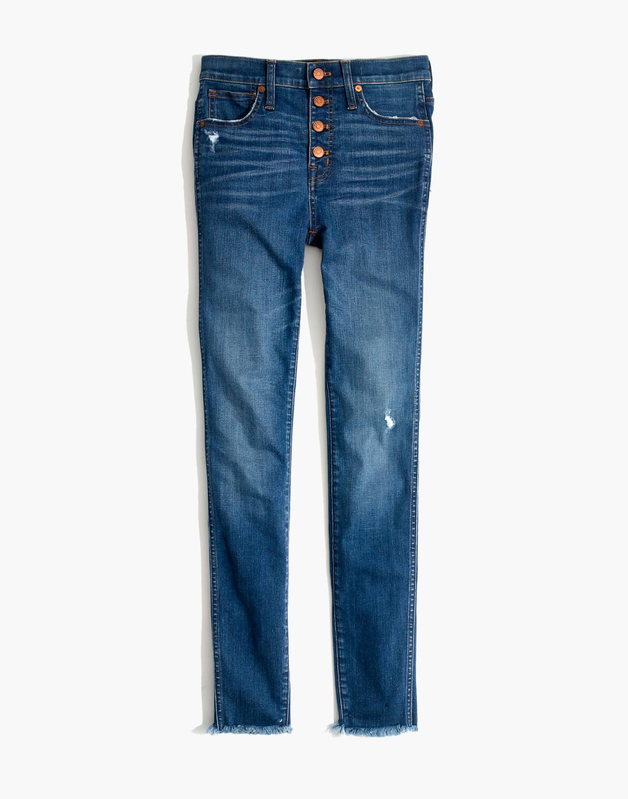 """Petite 10"""" High-Rise Skinny Jeans in Hanna Wash in hanna wash image 4"""