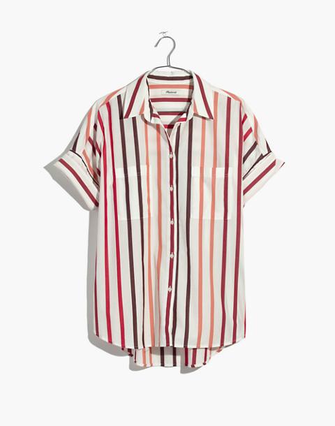 Courier Shirt in Lorelei Stripe in cabernet image 4