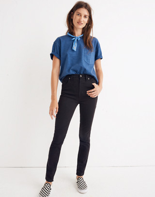 "Petite 10"" High-Rise Skinny Jeans in Johnny Wash: Comfort Stretch Edition in johnny wash image 1"