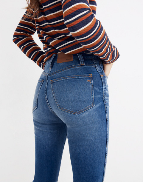 Petite Roadtripper Jeans: Knee-Rip Edition in lewis wash image 3