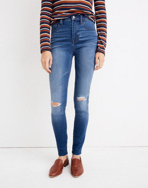 Petite Roadtripper Jeans: Knee-Rip Edition in lewis wash image 1