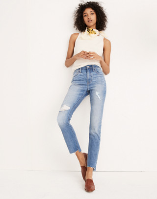 The Tall High-Rise Slim Boyjean in Lita Wash: Step-Hem Edition in lita wash image 1