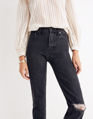 The Petite Perfect Vintage Jean in Roxstone Wash: Knee-Rip Edition in roxton wash image 2
