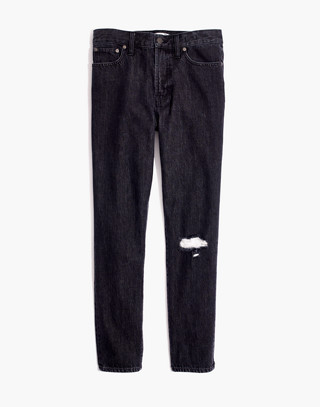 The Petite Perfect Vintage Jean in Roxstone Wash: Knee-Rip Edition in roxton wash image 4