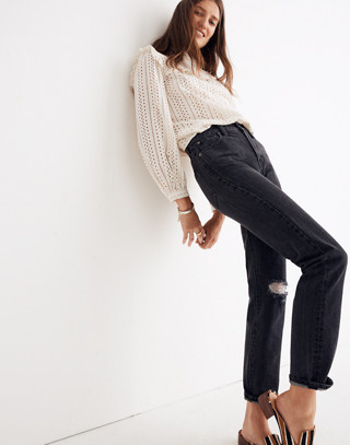 The Petite Perfect Vintage Jean in Roxstone Wash: Knee-Rip Edition in roxton wash image 1