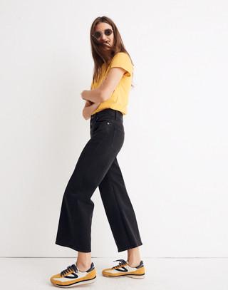 Wide-Leg Crop Jeans in Lunar Wash: Button-Front Edition in lunar wash image 2