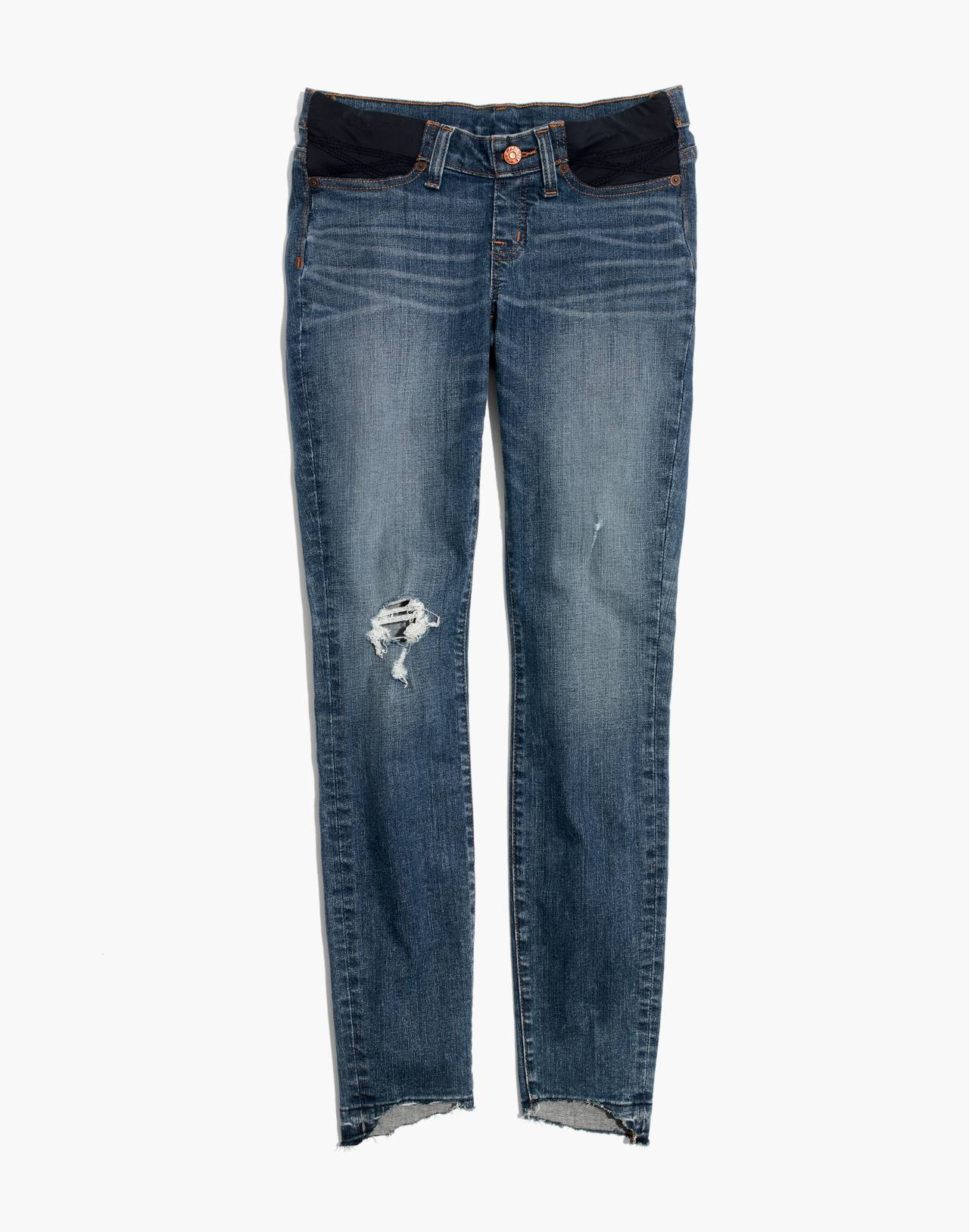Maternity Side-Panel Skinny Jeans in Everton Wash: Adjustable Edition in everton image 4