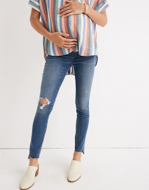 Maternity Skinny Jeans in Everton Wash: Adjustable Edition in everton image 1