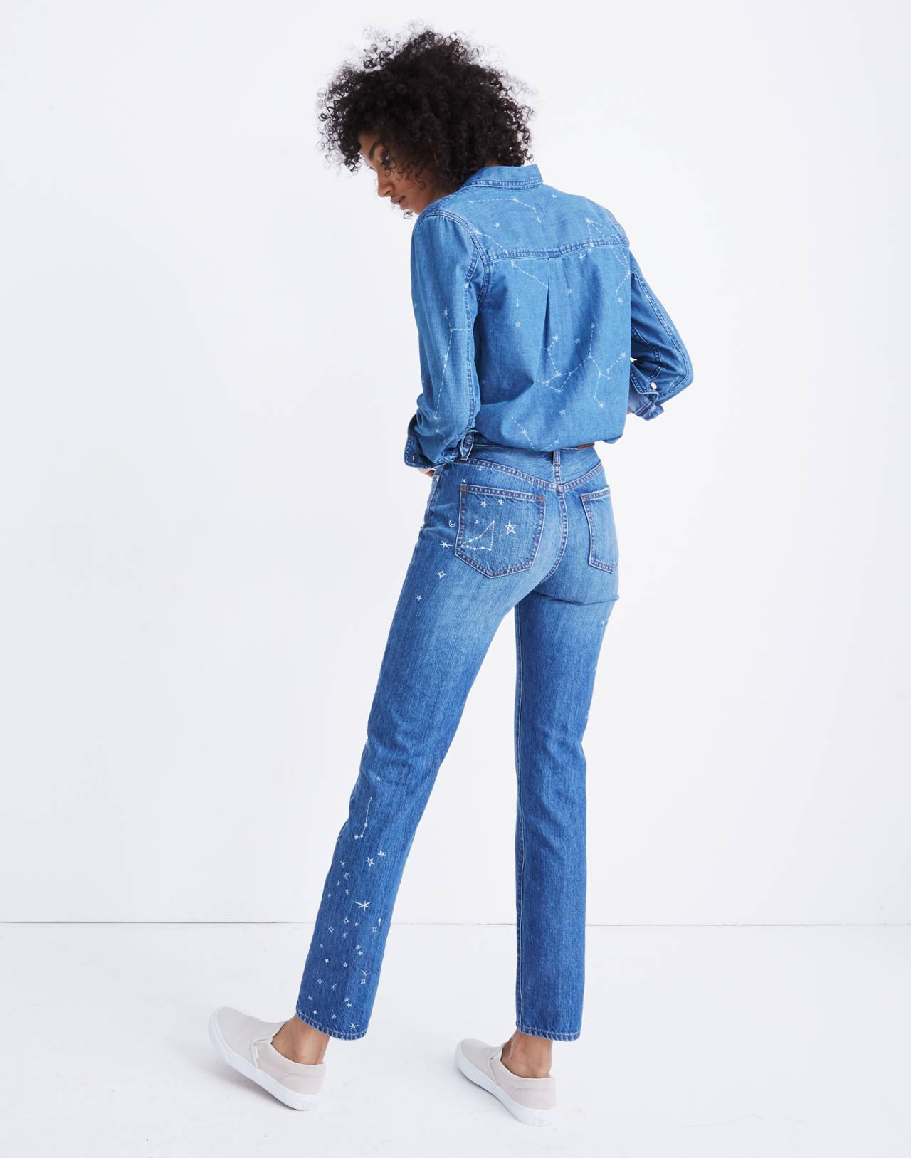 The Tall Perfect Vintage Jean: Comet Edition in jubilee wash image 3