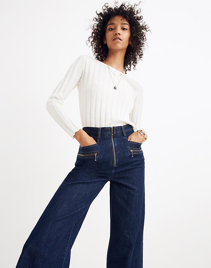 57dbd5f329c Madewell x Karen Walker® Blazar Zip Wide-Leg Jeans