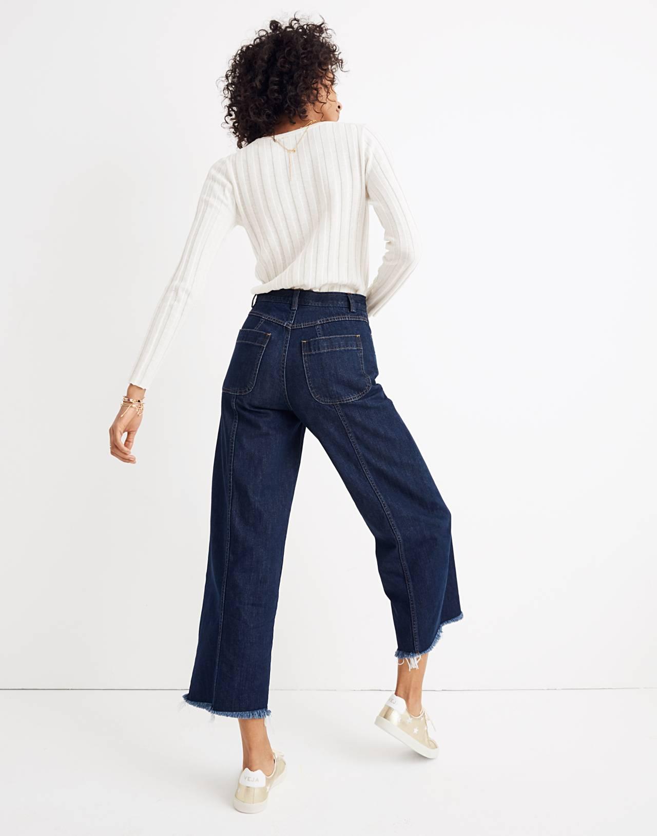 Madewell x Karen Walker® Blazar Zip Wide-Leg Jeans in walker wash image 3