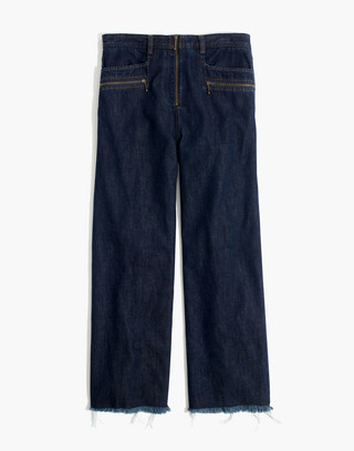 Madewell x Karen Walker® Blazar Zip Wide-Leg Jeans in walker wash image 4