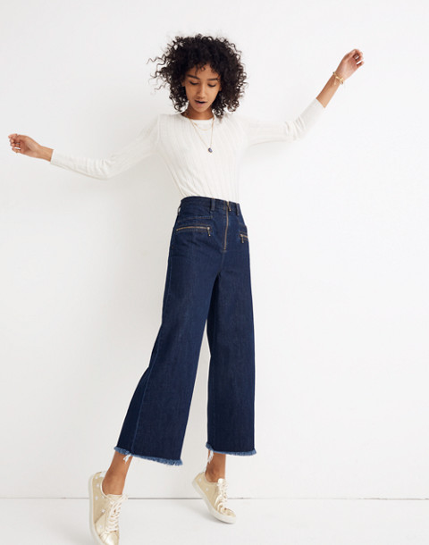 Madewell x Karen Walker® Blazar Zip Wide-Leg Jeans in walker wash image 1