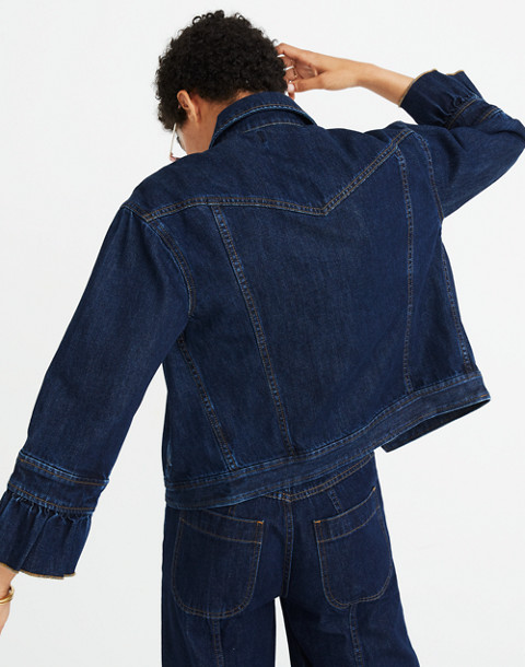 Madewell x Karen Walker® Muster Denim Jacket in walker wash image 2