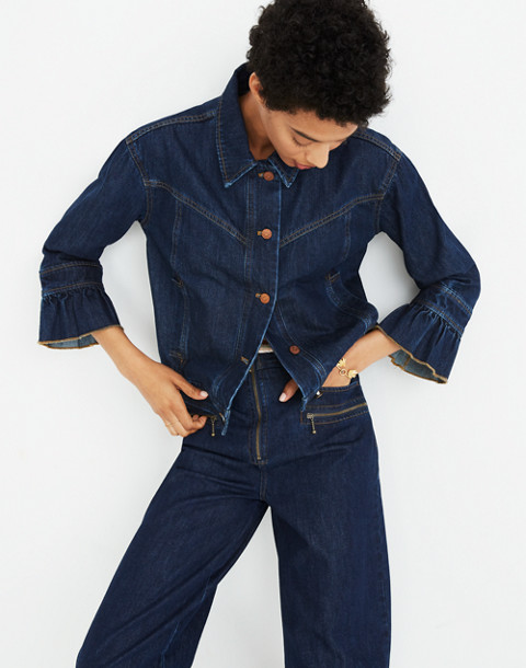 Madewell x Karen Walker® Muster Denim Jacket in walker wash image 3
