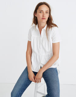 Seamed Button-Down Shirt