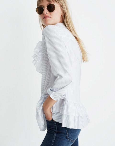 Madewell x Karen Walker® Striped Annie Shirt in kw stripe eyelet white image 2