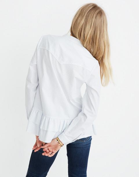 Madewell x Karen Walker® Striped Annie Shirt in kw stripe eyelet white image 3