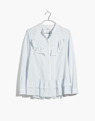 Madewell x Karen Walker® Striped Annie Shirt in kw stripe eyelet white image 4