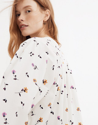 Square-Neck Top in Sweet Blossoms