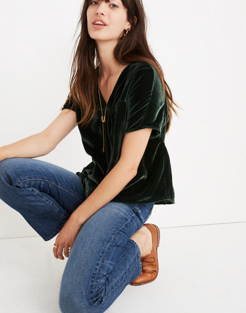 Velvet Rhyme Top in smoky spruce image 1
