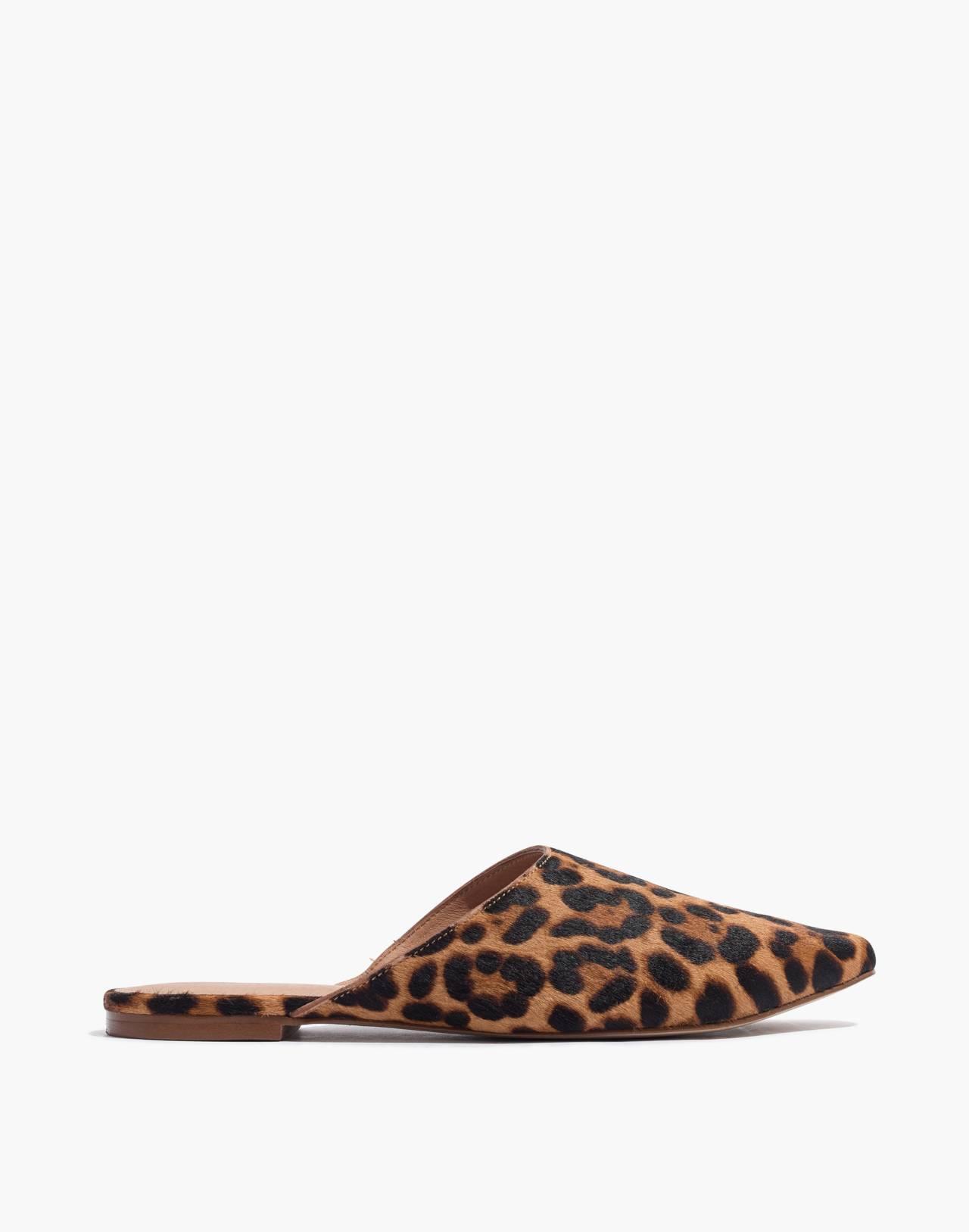 The Remi Mule in Leopard Calf Hair in truffle multi image 3