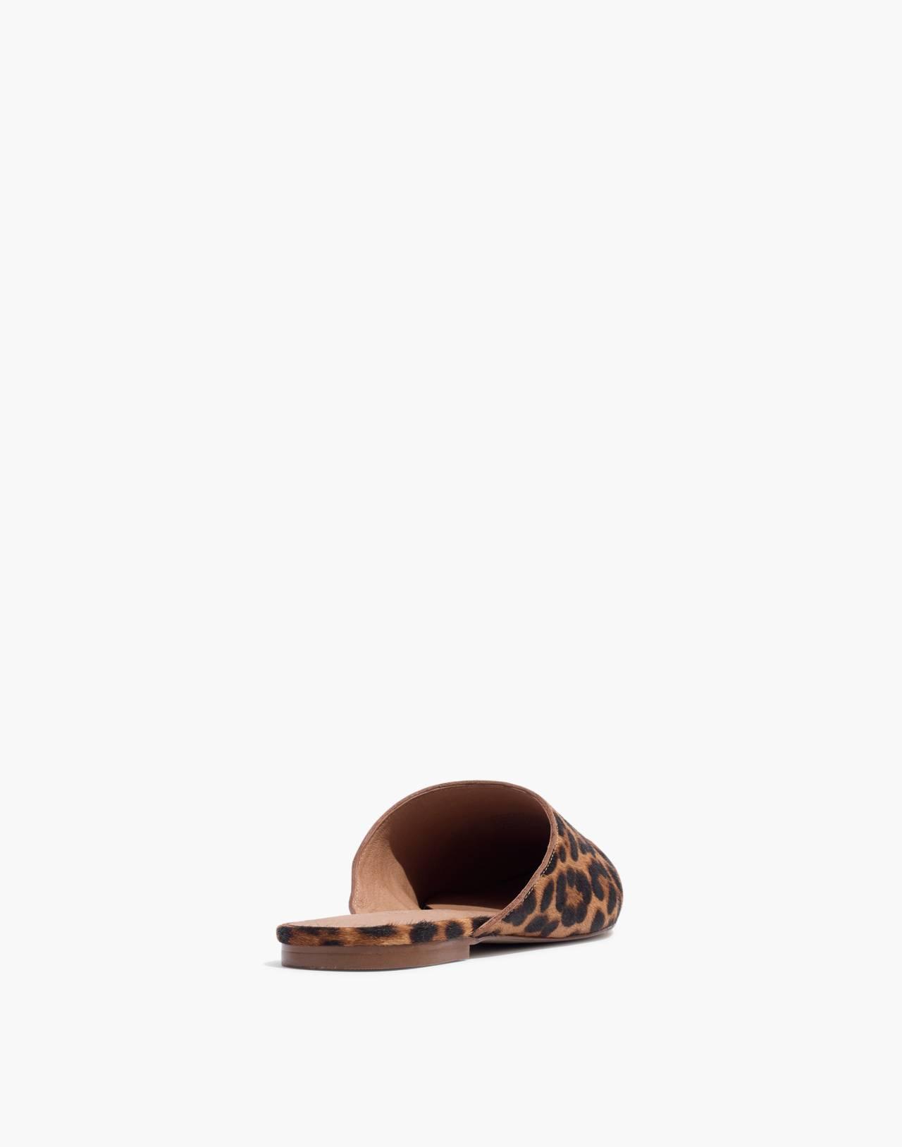 The Remi Mule in Leopard Calf Hair in truffle multi image 4