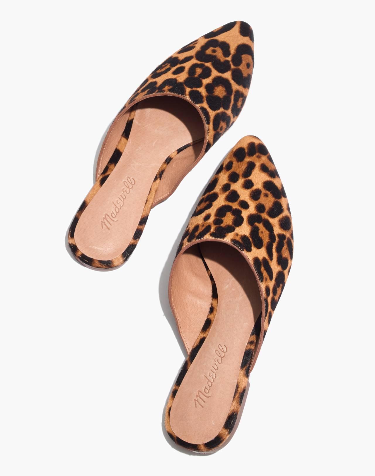 The Remi Mule in Leopard Calf Hair in truffle multi image 1