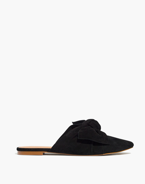The Remi Bow Mule in true black image 2